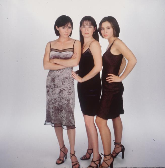 La formazione originale del Trio: Shannen Doherty, Holly Marie Combs e Alyssa Milano