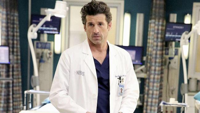 Patrick Dempsey nella serie TV Grey's Anatomy