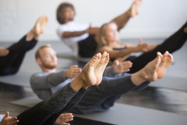 Una sessione di pilates