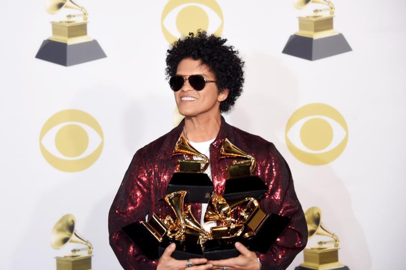 Bruno Mars ha sbancato i Grammy Awards 2018