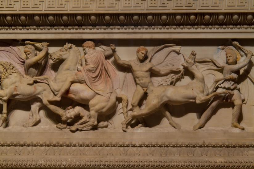 Incantevole fregio del Sarcofago di Alessandro