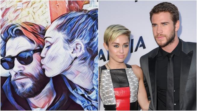Lo scatto di Miley Cyrus e Liam Hemsworth