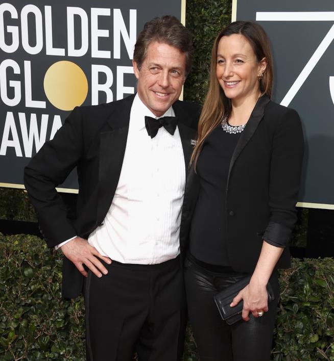 Hugh Grant e la compagna Anna Eberstein