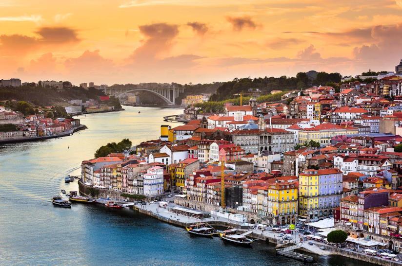 Veduta di Oporto in Portogallo