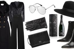 Idee outfit total black con budget di 1000 euro