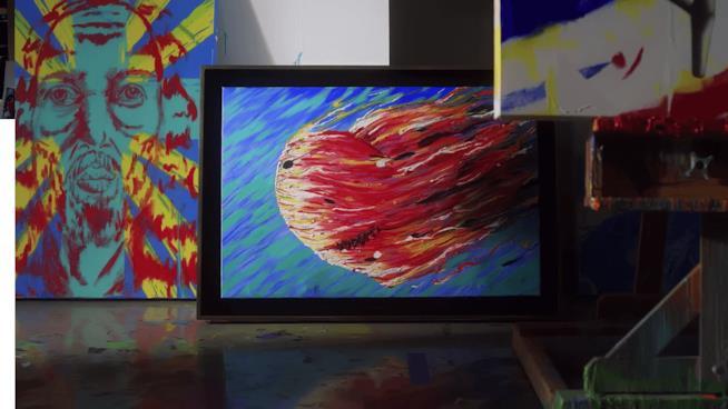 Jim Carrey dipinge un cuore