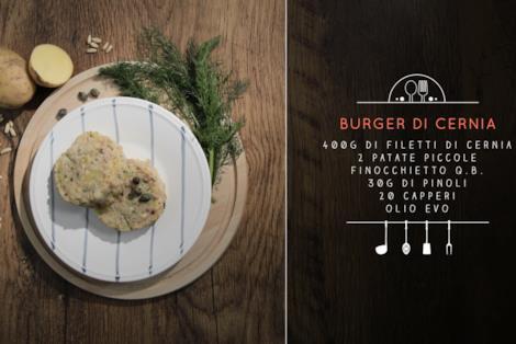 Burger di cernia