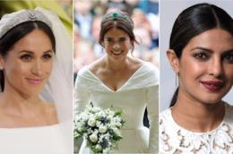 Collage tra Meghan Markle,  Priyanka Chopra ed Eugenia