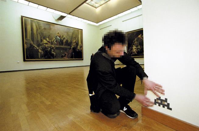 Invader al Louvre