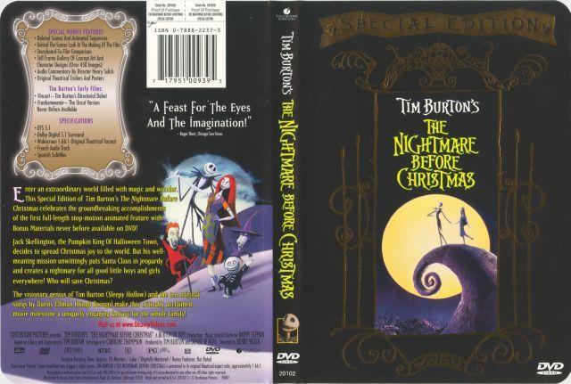 Immagini del film prodotto da Tim Burton Nightmare Before Christmas