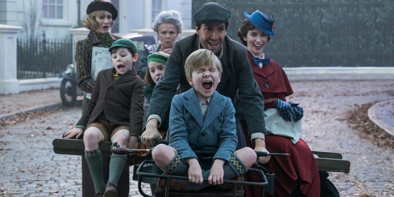 Una scena di Mary Poppins Returns con Emily Blunt