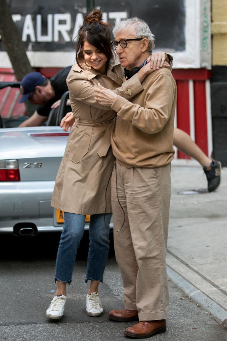 Selena Gomez e Woody Allen sul set