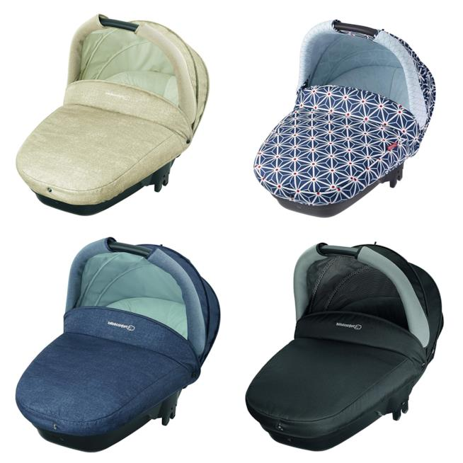 Bébé Confort Navicella Compact: Sabbia, Black Raven, Blu e Star