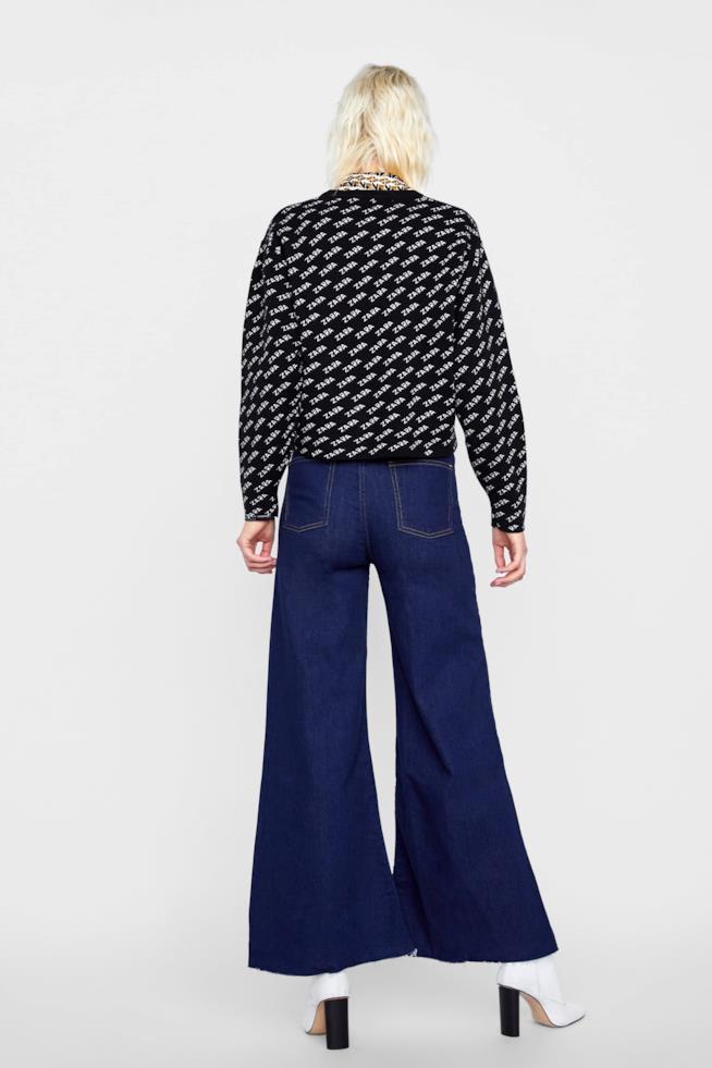 Maglia a maniche lunghe di Zara con fantasia logo