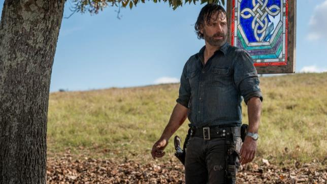 Una scena di The Walking Dead con Rick Grimes