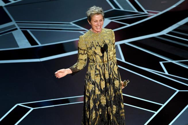 Frances McDormand agli Oscar 2018