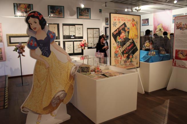L'angolo dedicato a Biancaneve nella mostra del WOW Spazio Fumetto