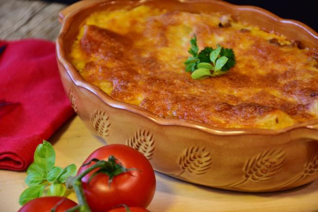 Lasagne con zucca e verdure