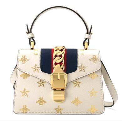 Mini borsa Sylvie Bee Star in pelle