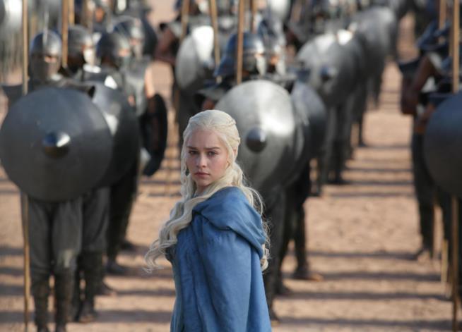 Daenerys Targaryen con l'esercito