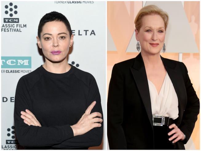 Rose McGowan e Meryl Streep