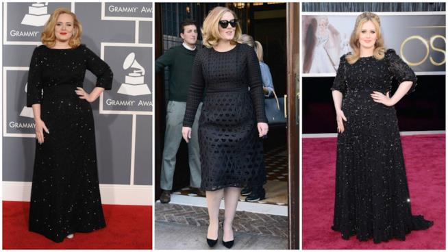 Il look uniforme di Adele