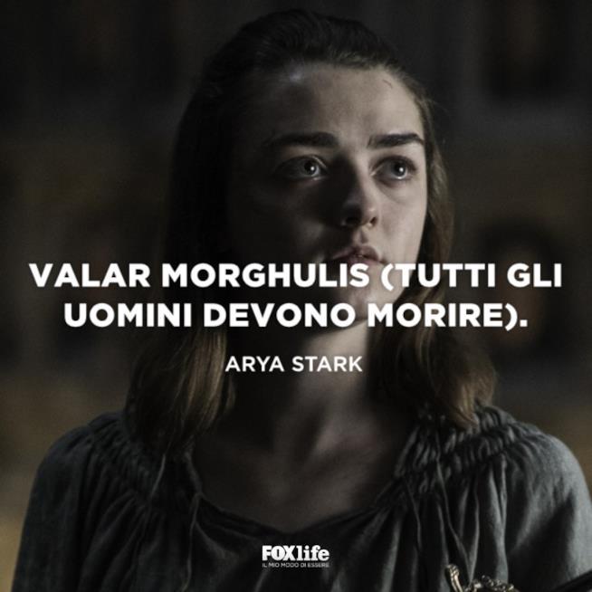 Viso di Arya Stark