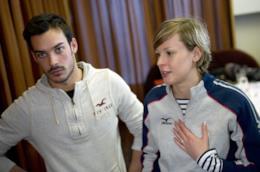 Luca Marin con Federica Pellegrini