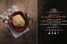 Ingredienti  per biscotti con burro di arachidi