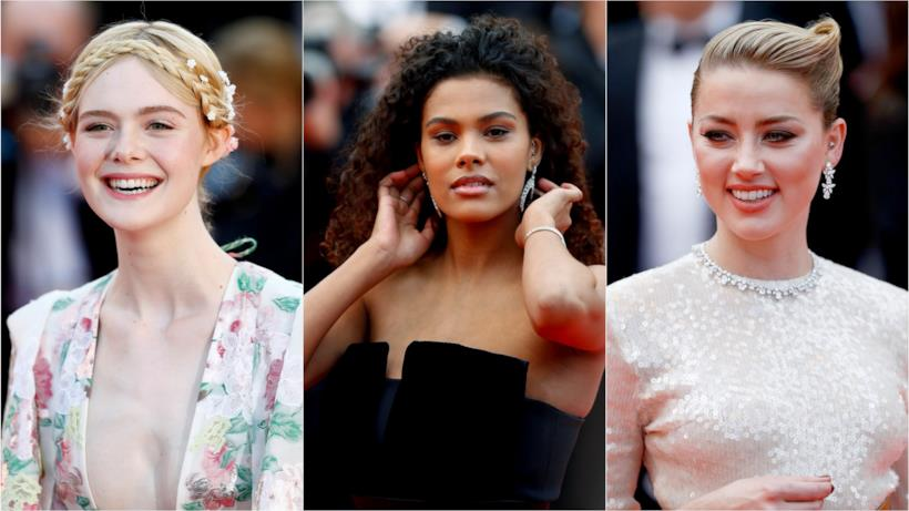 Elle Fanning, Tina Kunakey e Amber Heard