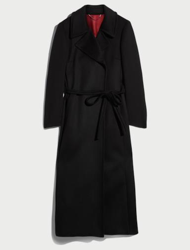 Cappotto lungo con cintura