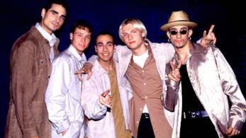 Il gruppo dei Backstreet Boys negli anni '90