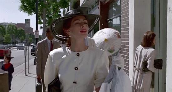 Julia Roberts fa shopping in Pretty Woman
