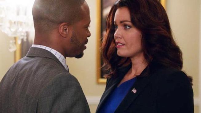 Una tenera immagine di Marcus e Mellie in Scandal 6