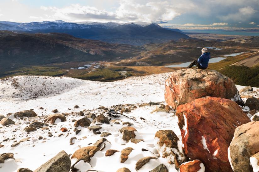 Donna durante un viaggio in Patagonia, Argentina