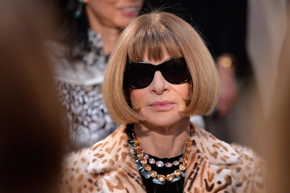 Anna Wintour in primo piano