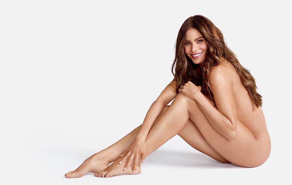 Sofia Vergara nuda di lato