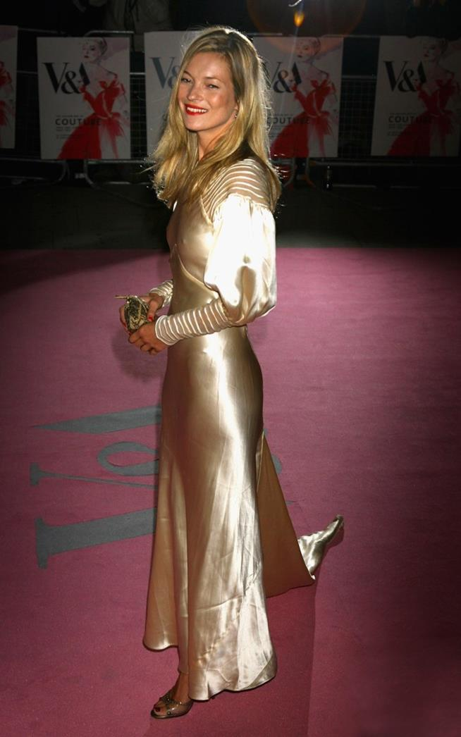 Kate Moss al Gala Vip The Golden Age Of Couture