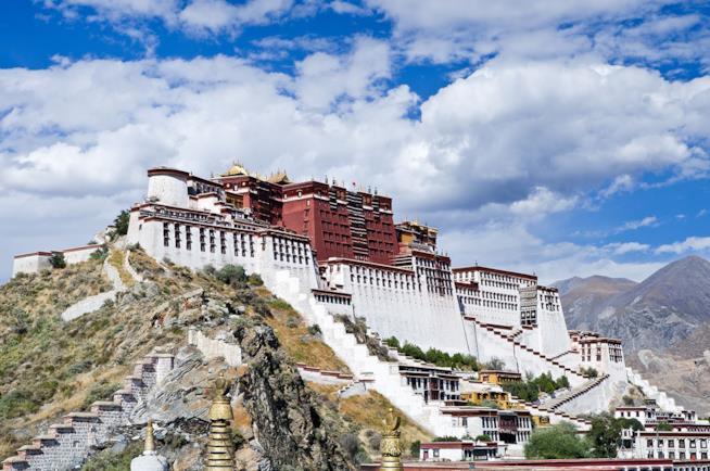 Palazzo Potala in Tibet