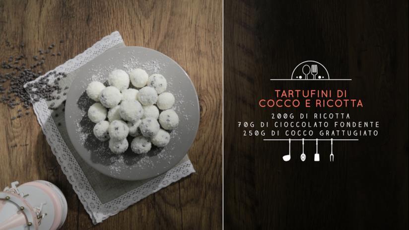 Cocchini: tartufini di cocco e ricotta