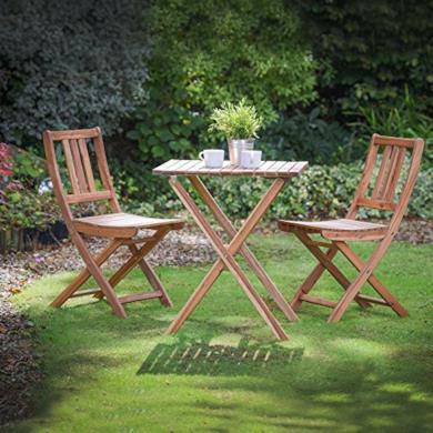 Set sedie e tavolo in legno pieghevole