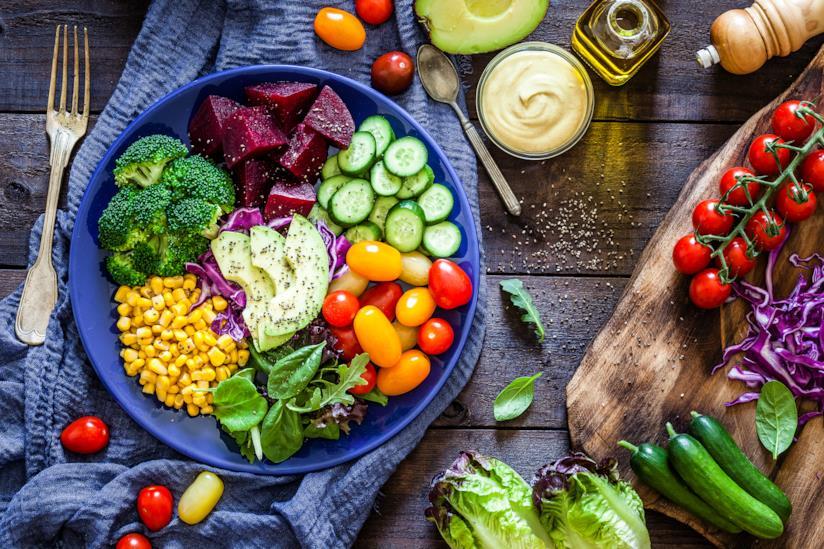 Piatto con verdura
