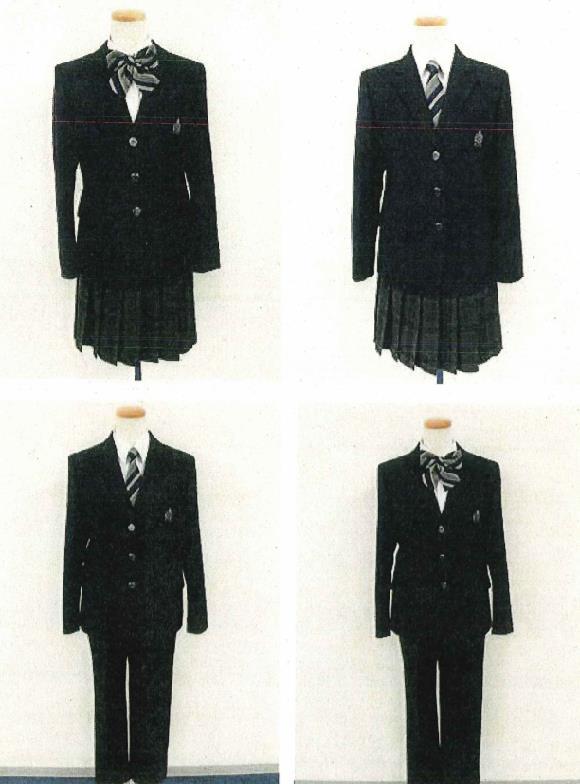 Quattro uniformi del Kashiwanoha Junior High