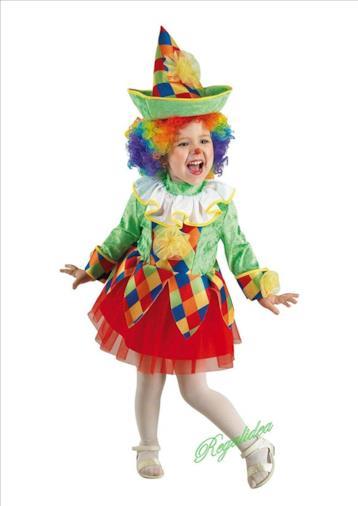Costume Vestito Carnevale  ARLECCHINO Girl