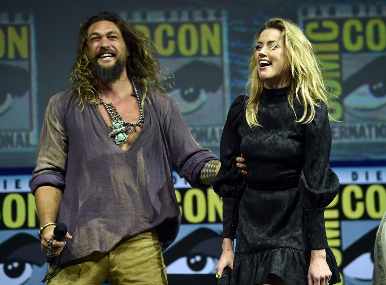 Jason Momoa e Amber Heard (al San Diego Comic-Con
