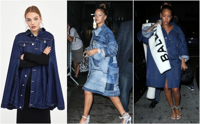 Rihanna e il suo street style in total denim