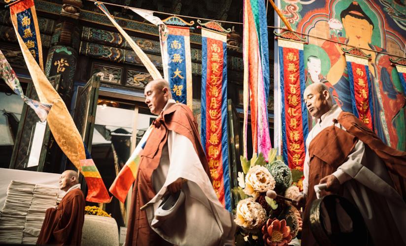 Processione al Tempio Bongeunsa