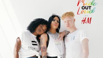 Un'immagine della nuova campagna Pride Out Loud di H&M
