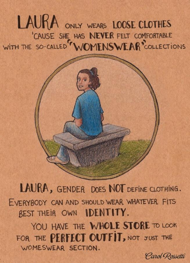 Illustrazione di una ragazza seduta su una panchina