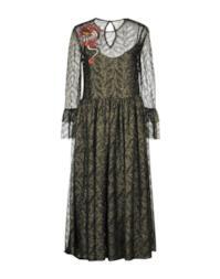 Vestito longuette con filo laminato